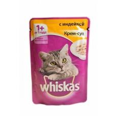Вискас влажный корм для кошек 85г Крем-суп Индейка